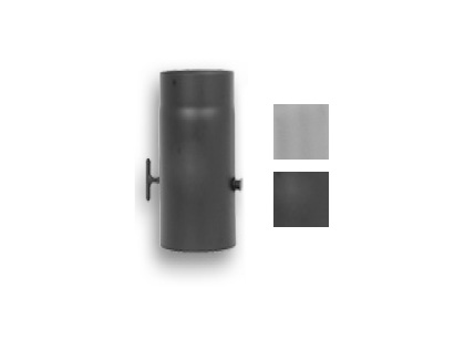 Flue pipe with damper Ø150mm/0,5m black/ grey