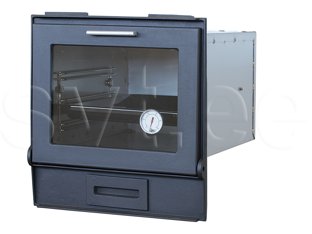 546 Inox bake oven kit with cast iron glass door and soot flap
