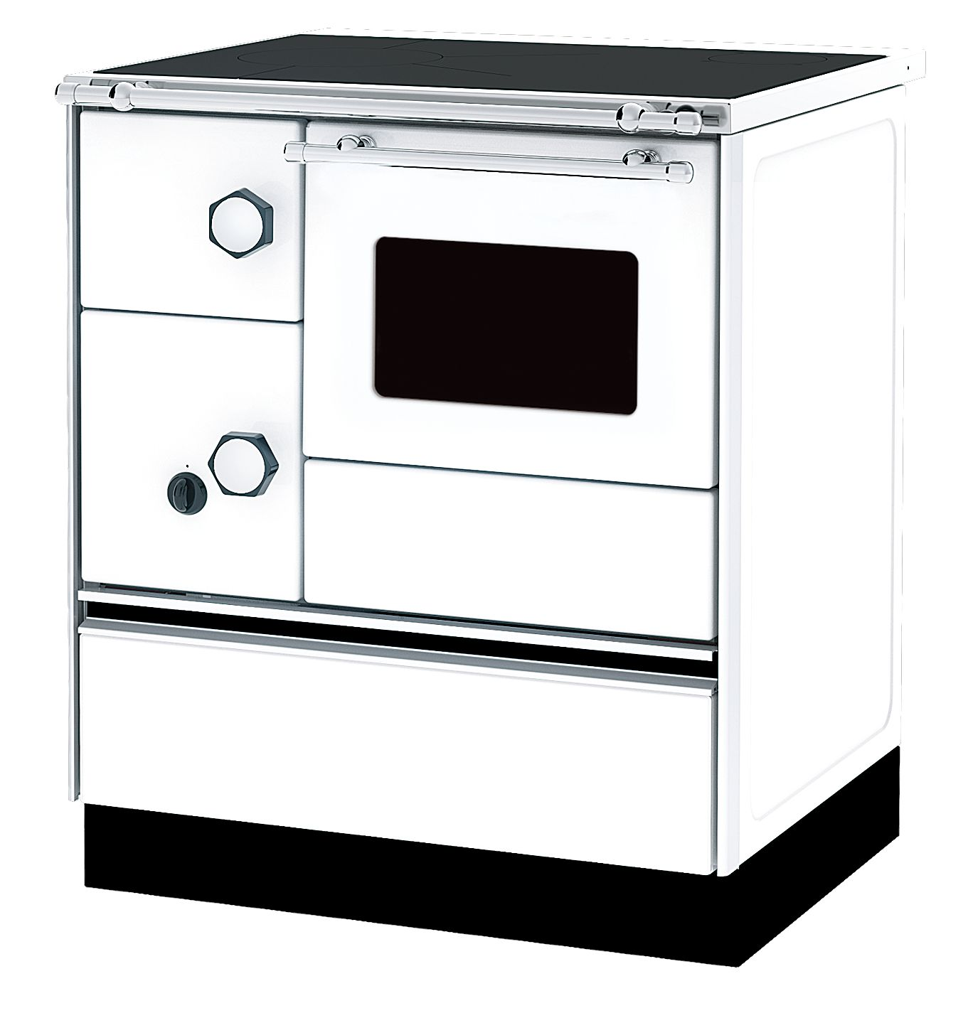 Woodburning cooker Alfa 70 white righthanded 6kW