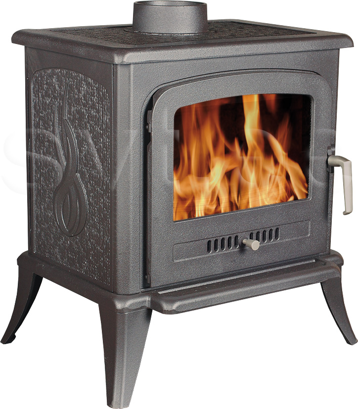 Cast iron fireplace Agnes 5kW black