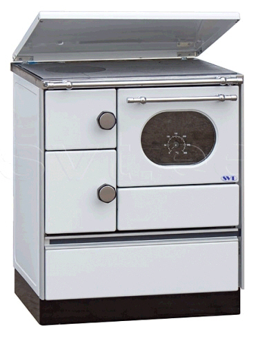 Centralheating cooker Alfa 70 white righthanded 12,5kW