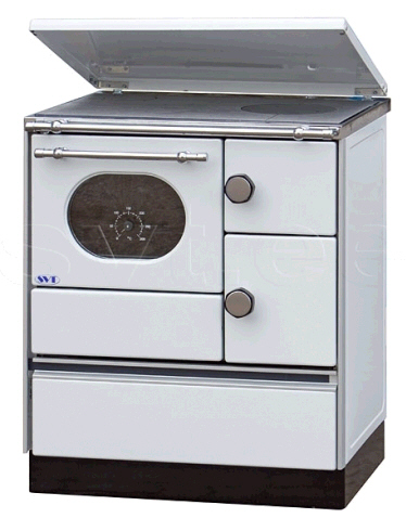 Central heating cooker Alfa 70 white left 12,5kW