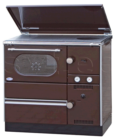 Centralheating cooker Alfa Term 20 brown lefthanded 20kW