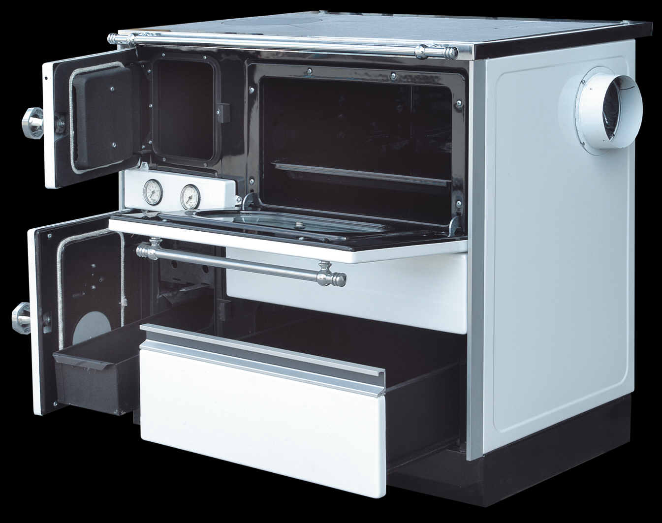 Centralheating cooker Alfa Term 20 right white 20kW