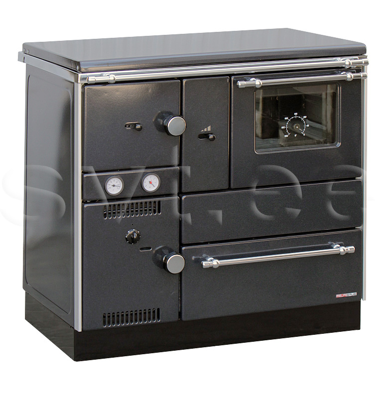 Centralheating cooker Alfa Term 27 black righthanded 27kW