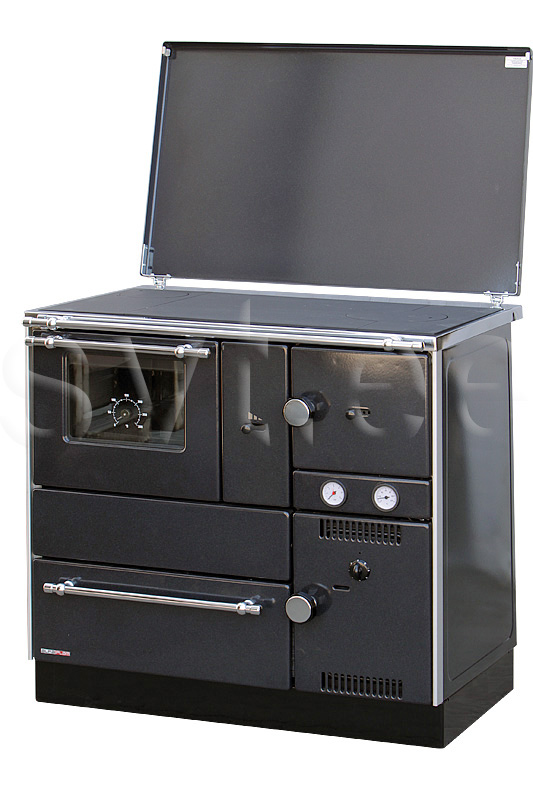 Centralheating cooker Alfa Term 27 black lefthanded 27kW
