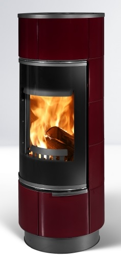 Fireplace Atika winered accumulating 7,5kW