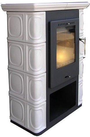Fireplace Borgholm ceramic ivory 7kW