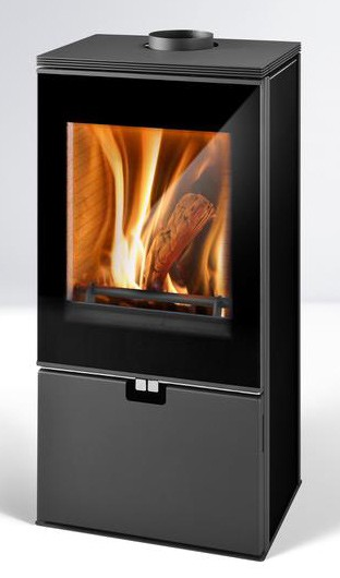 Fireplace Cremona black 8kW