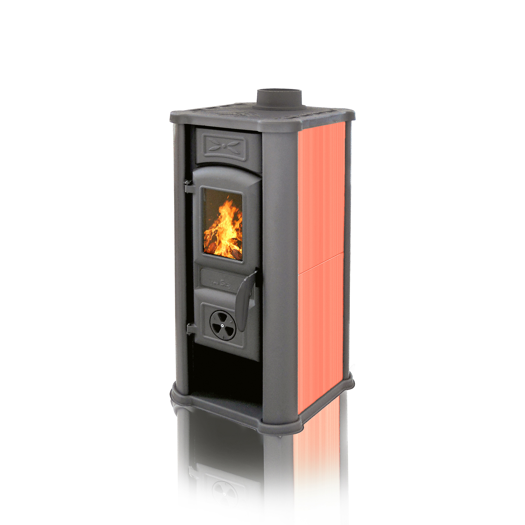 Fireplace Diana red 6kW