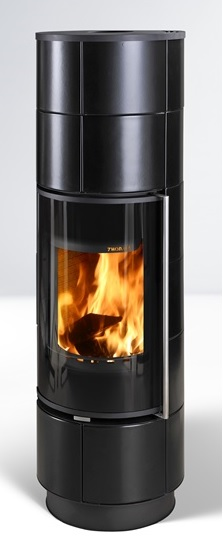 Fireplace Delia Extra matt black 7,5kW
