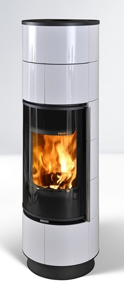 Fireplace Delia Extra white 7,5kW