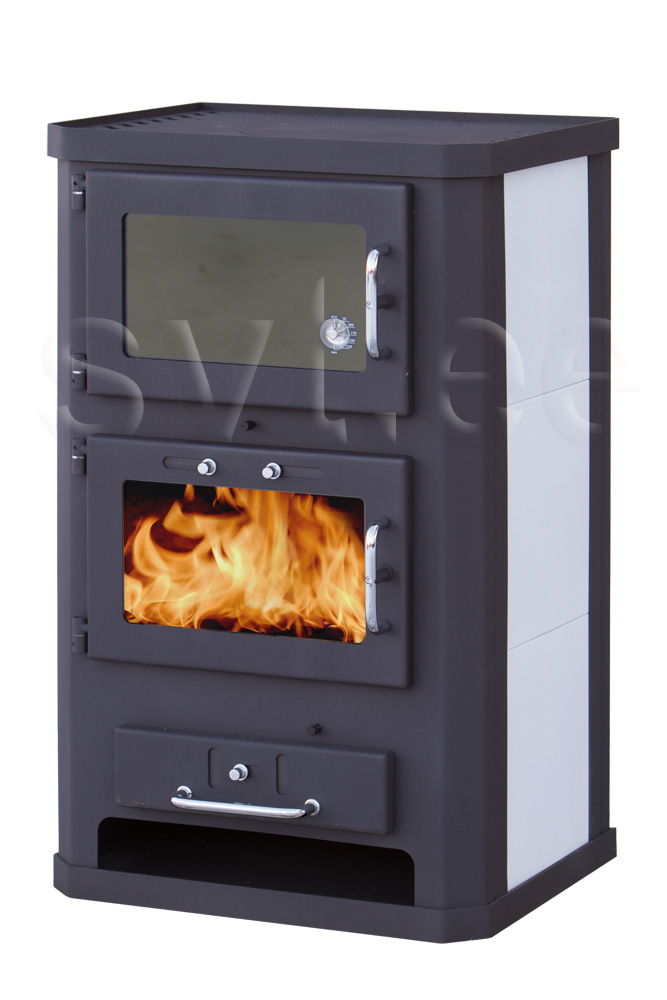 Baking-stove Komfort black/white 10kW