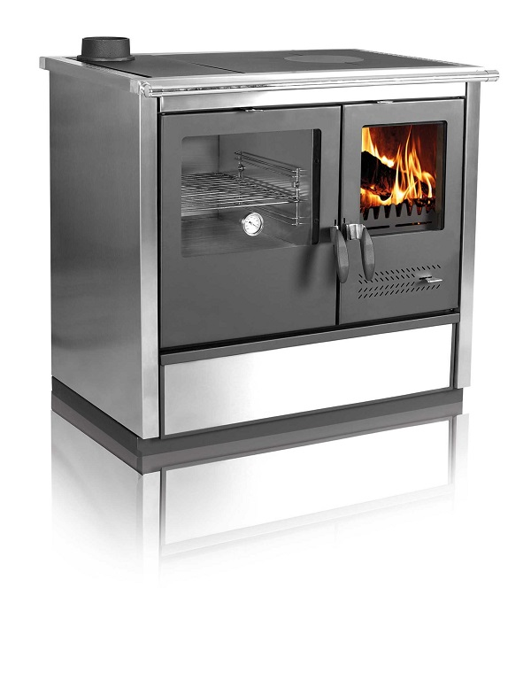 Woodburning cooker North stainless steel lefthanded 9kW