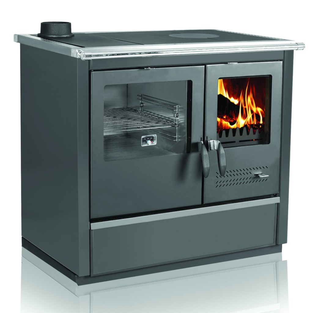 Woodburning cooker North black lefthanded 9kW