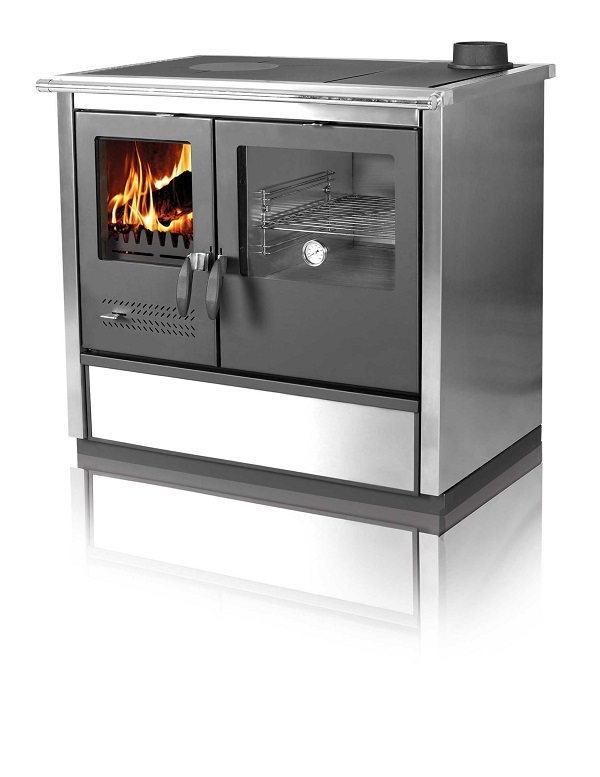 Woodburning cooker North stainless steel righthanded 9kW