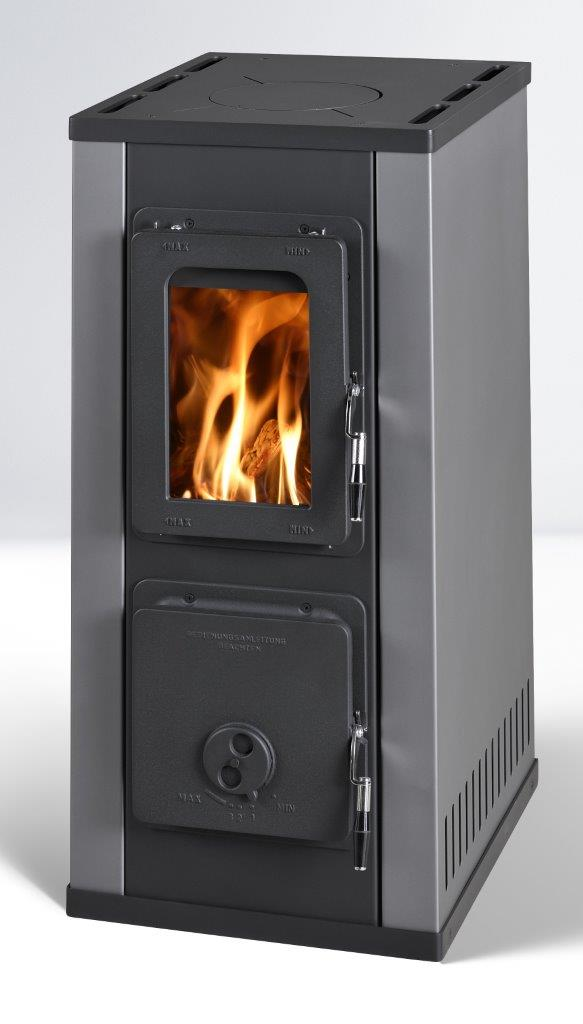 Tile stove Sissi Maxi black-grey 7kW