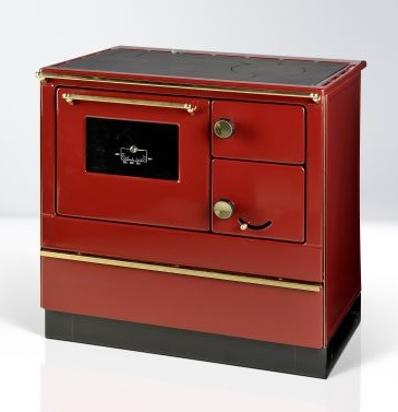Woodburning cooker Susanna red left 8kW
