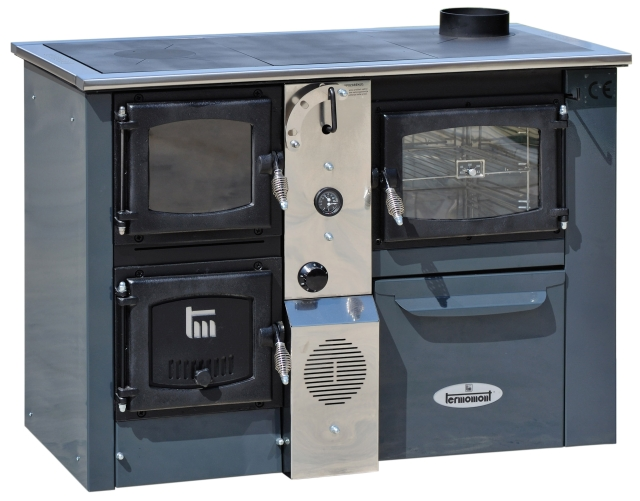 Centralheating cooker TEMY PLUS P25 grey righthanded 25kW
