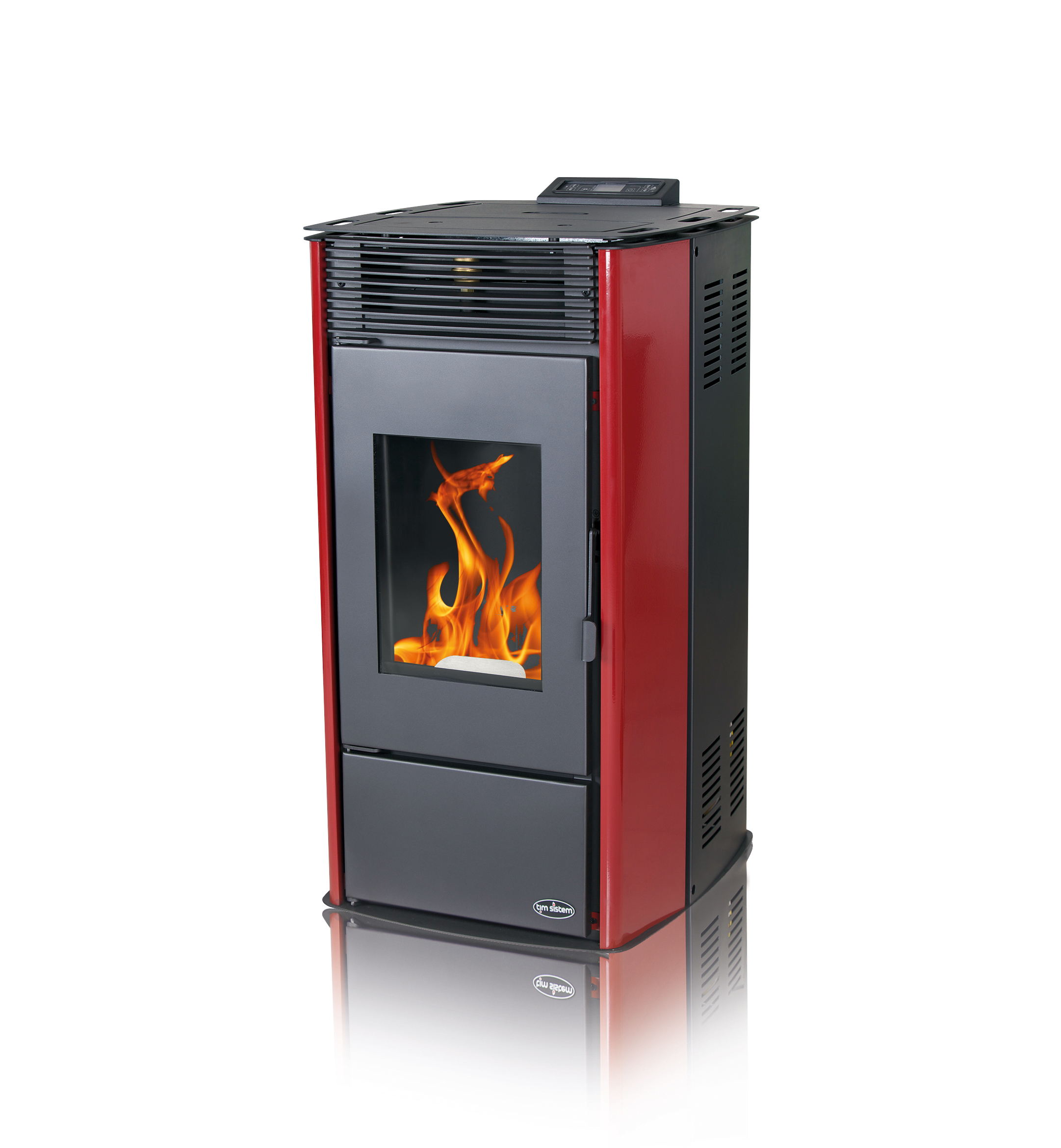 Centralheating pellet stove Rittium Hydro red 14kW